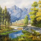 """Hand painted oil painting on canvas""""Creek""""60x90CM(23.6""""x35.4"""")Unframed-348"""