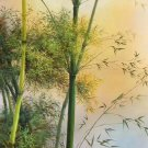 "Simple modern Hand painted oil painting on canvas""bamboo""75x150CM(30""x60"")Unframed-48"