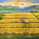 "Hand painted oil painting on canvas""Image of the countryside""60x120CM(23.6""x47.2"")Unframed-135"