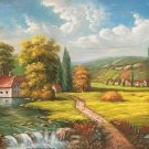 """Hand painted oil painting on canvas""""Image of the countryside""""60x120CM(23.6""""x47.2"""")Unframed-144"""