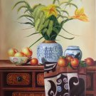 "Chinese style Hand painted oil painting on canvas""ceramics""60x90CM(23.6""x35.4"")Unframed-33"