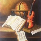 "Simple modern Hand painted oil painting on canvas""violin""50x60CM(19.7""x23.6"") Unframed-15"