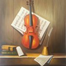 """Simple modern Hand painted oil painting on canvas""""violin""""50x60CM(19.7""""x23.6"""") Unframed-16"""