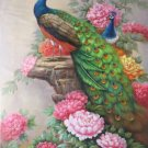 """Hand painted oil painting on canvas""""Gorgeous peacock""""80x120CM(33""""x48"""")Unframed-58"""