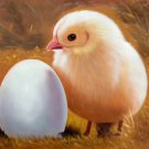 """Simple modern Hand-painted oil painting on canvas""""Cute Chick""""50x60CM(19.7""""x23.6"""")Unframe-01"""