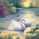 "Simple modern Hand painted oil painting on canvas""swan""60x60CM(24""x24"")Unframed-30"