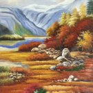 """Hand painted oil painting on canvas""""Creek""""60x90CM(23.6""""x35.4"""")Unframed-377"""