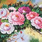 "Hand painted oil painting on canvas""Peony""70x180CM(30""x72"")Unframed-13"