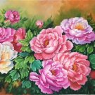"""Hand painted oil painting on canvas""""Peony""""70x180CM(30""""x72"""")Unframed-14"""