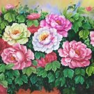 "Hand painted oil painting on canvas""Peony""70x180CM(30""x72"")Unframed-15"