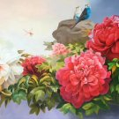 """Hand painted oil painting on canvas""""Peony""""80x180CM(33""""x72"""")Unframed-17"""