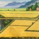 """Hand painted oil painting on canvas""""Image of the countryside""""60x120CM(23.6""""x47.2"""")Unframed-158"""