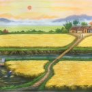 "Hand painted oil painting on canvas""Image of the countryside""60x120CM(23.6""x47.2"")Unframed-159"