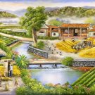 """Hand painted oil painting on canvas""""Image of the countryside""""90x180CM(36""""x72"""")Unframed-164"""