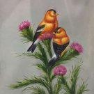"Simple modern Hand painted oil painting on canvas""Cute bird""50x60CM(19.7""x23.6"")Unframed-44"