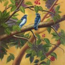 "Simple modern Hand painted oil painting on canvas""Cute bird""50x60CM(19.7""x23.6"")Unframed-45"