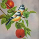 "Simple modern Hand painted oil painting on canvas""Cute bird""50x60CM(19.7""x23.6"")Unframed-46"