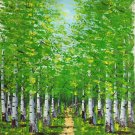 "Hand painted oil painting on canvas""forest""50x60CM(20""x24"")Unframed-58"
