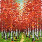 """Hand painted oil painting on canvas""""forest""""50x60CM(20""""x24"""")Unframed-59"""