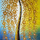 "Simple modern Hand painted oil painting on canvas""mind tree""60x120CM(23.6""x47.2"")Unframed-72"