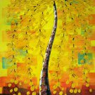 "Simple modern Hand painted oil painting on canvas""mind tree""60x120CM(23.6""x47.2"")Unframed-73"