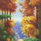 """Hand painted oil painting on canvas""""Creek""""60x120CM(23.6""""x47.2"""")Unframed-389"""