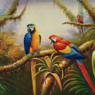 """Hand painted oil painting on canvas""""Colorful parrot""""60x90CM(24""""x36"""")Unframed-17"""