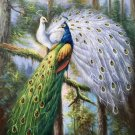 """Simple modern Hand painted oil painting on canvas""""Gorgeous peacock""""60x90CM(23.6""""x35.4"""")Unframed-72"""