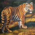 "Simple modern Hand painted oil painting on canvas""tiger""60x90CM(23.6""x35.4"")Unframed-07"