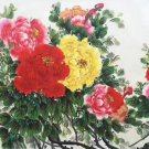 "Hand painted oil painting on canvas""Peony""60x120CM(24""x48"")Unframed-27"