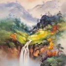 "Hand painted oil painting on canvas""Creek""60x90CM(23.6""x35.4"")Unframed-418"