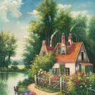 """Hand painted oil painting on canvas""""Image of the countryside""""60x90CM(23.6""""x35.4"""")Unframed-165"""