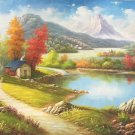 """American style Hand painted oil painting on canvas""""Creek""""70x180CM(27.6""""x70.9"""")Unframed-451"""