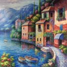 "Hand painted oil painting on canvas""Sea view Villa""50x60CM(19.7""x23.6"")Unframed-89"