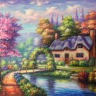 """European style Hand-painted oil painting on canvas""""mind home""""50x60CM(19.7""""x23.6"""")Unframed-18"""