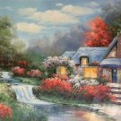 """Hand painted oil painting on canvas""""Image of the countryside""""60x90CM(23.6""""x35.4"""")Unframed-169"""
