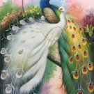 """Simple modern Hand painted oil painting on canvas""""Gorgeous peacock""""60x120CM(23.6""""x47.2"""")Unframed-80"""