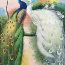 """Simple modern Hand painted oil painting on canvas""""Gorgeous peacock""""60x120CM(23.6""""x47.2"""")Unframed-84"""