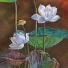 """Chinese style Hand painted oil painting on canvas""""lotus""""60x120CM(23.6""""x47.2"""")Unframed-82"""