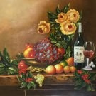 "handpainted oil painting on canvas Art Decor""Grape wine""50x60CM(19.7""x23.6"")Unframed-75"