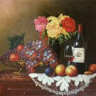 "handpainted oil painting on canvas Art Decor""Grape wine""50x60CM(19.7""x23.6"")Unframed-77"