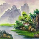 """Hand painted oil painting on canvas""""Creek""""50x60CM(19.7""""x23.6"""")Unframed-465"""
