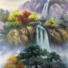 """Hand painted oil painting on canvas""""Creek""""50x60CM(19.7""""x23.6"""")Unframed-466"""