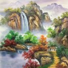 """Hand painted oil painting on canvas""""Creek""""50x60CM(19.7""""x23.6"""")Unframed-469"""
