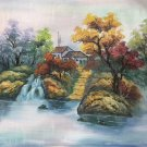 "Hand painted oil painting on canvas""Creek""50x60CM(19.7""x23.6"")Unframed-471"