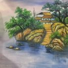 """Hand painted oil painting on canvas""""Creek""""50x60CM(19.7""""x23.6"""")Unframed-473"""
