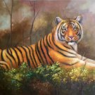 """Simple modern Hand painted oil painting on canvas""""tiger""""60x90CM(23.6""""x35.4"""")Unframed-20"""