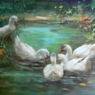 "Hand painted oil painting on canvas""Cute duck""60x90CM(24""x36"")Unframed-09"