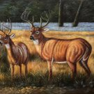 "Hand painted oil painting on canvas""The King Of Milu Deer""60x90CM(23.6""x35.4"")Unframed-18"