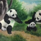 "Simple modern Hand painted oil painting on canvas""Panda""60x90CM(24""x36"")Unframed-03"